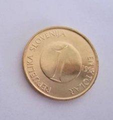 Монеты и Банкноты №26 - 1 толар Словения