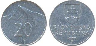 Монеты и банкноты №30 – 20 геллеров Словакия