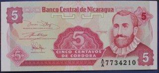 Монеты и Банкноты №33 – 5 сентаво Никарагуа