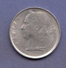 Монеты и Банкноты №34 – 1 франк Бельгия