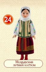 Куклы в народных костюмах №24 Кукла в Молдавском летнем костюме