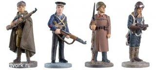 Коллекция фигурок солдат