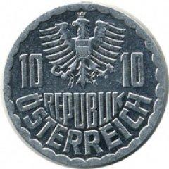Монеты и Банкноты №50 – 10 грошей Австрия