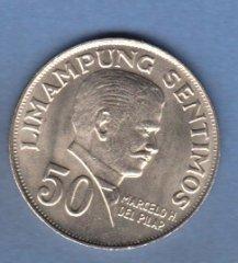 Монеты и Банкноты №53 50 сентимо Филиппины