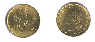 Монеты и банкноты №2 (20 лир Италии, 5 боливаров Венесуэлы)