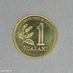 Монеты и банкноты №7 50 инти (Перу), 1 гуарани (Парагвай)