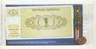 Монеты и банкноты №19 1 толар (Словения), 1 цент (Фиджи)