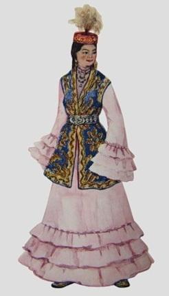 История Казахского Женского Костюма